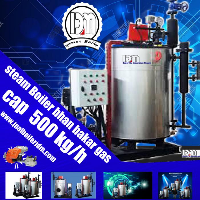 BOILER BAGUS CAP 500 KG BAHAN BAKAR GAS